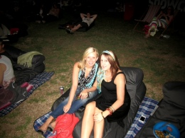 Marysia and I at the Opel Moonlight Cinema in New Farm Park.