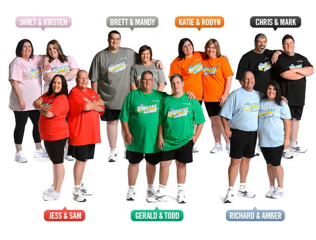 The Biggest Loser: The Next Generation contestants.