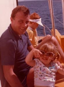 Dad and I at Dunk Island, circa 1984.