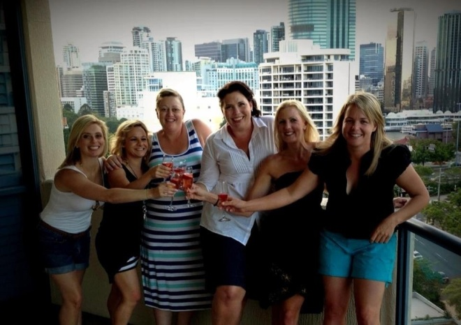 Me with Belinda, Nell, Jane, Tamie and Jenny celebrating New Years' 2012/13.