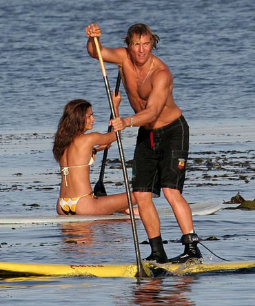 Matthew McConaughey getting his paddle on.