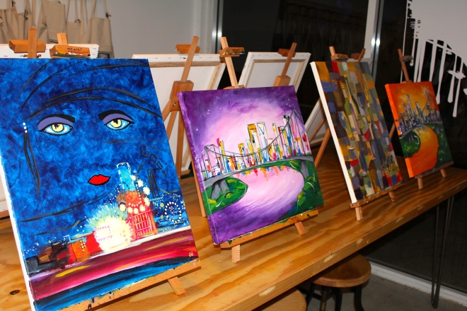 Cork & Chroma offer a variety of themed sessions as well as open paint sessions.