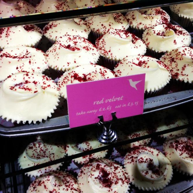 Red velvet cupcakes from Hummingbird Bakery are a must!