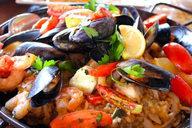 Seafood paella, Gwinganna style.