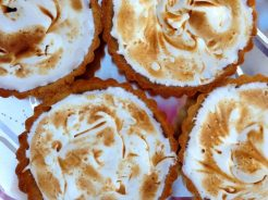 Brigid's amazing homemade lemon meringue tarts.