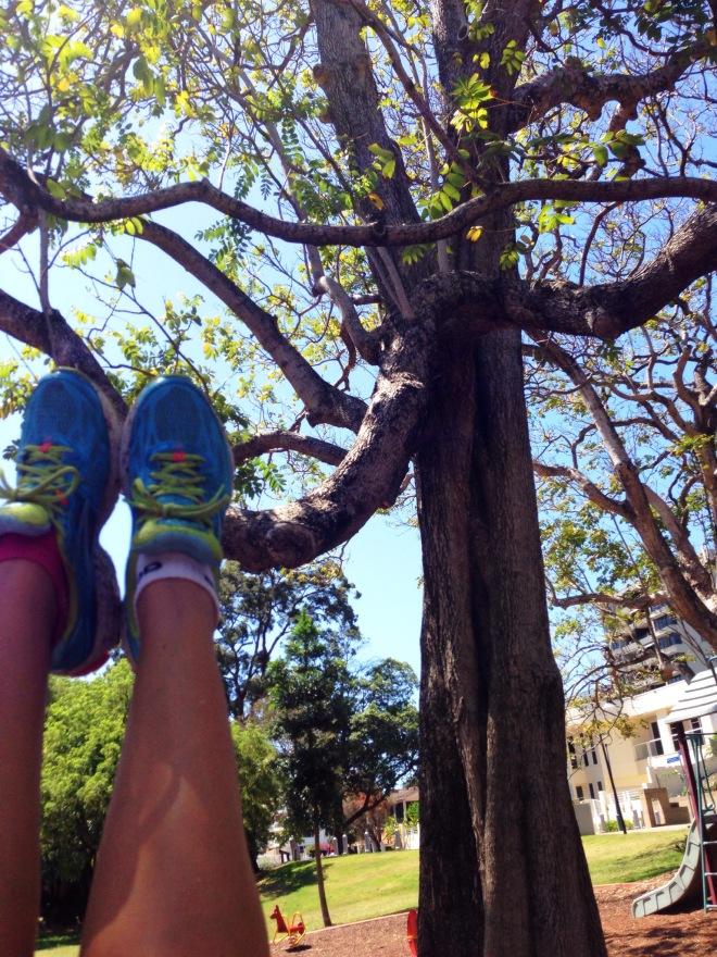 Swinging at Kangaroo Point