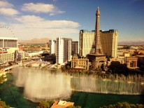 Another pretty good view ... while in Vegas, I stayed at in a Fountain View room at Bellagio.