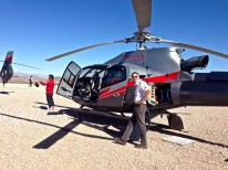 Our awesome pilot Mike refuelling in the middle of nowhere.