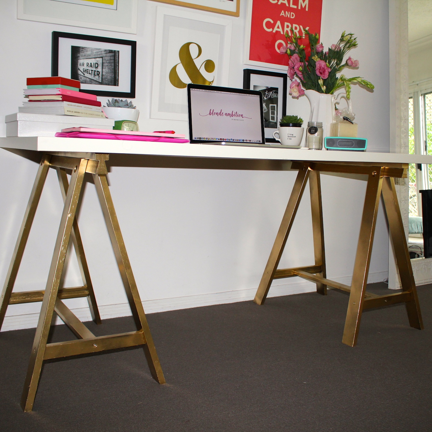 My 10 Minute Ikea Desk Makeover Blonde Ambition