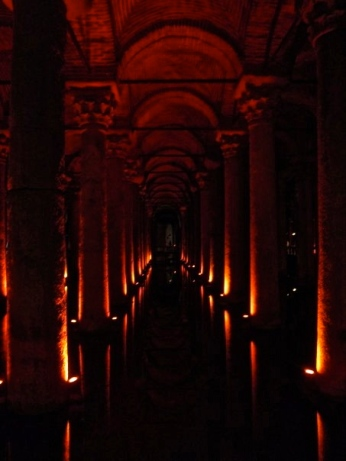 The underground cistern in Istanbul is thought to have been built 532 AD.