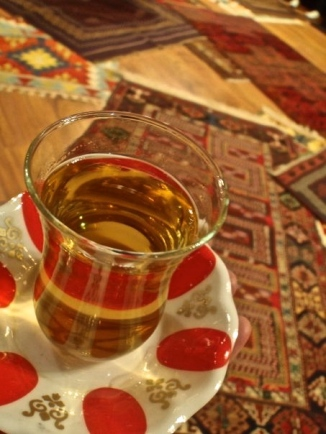 Apple tea and hand woven rugs are two of Turkey's specialties.