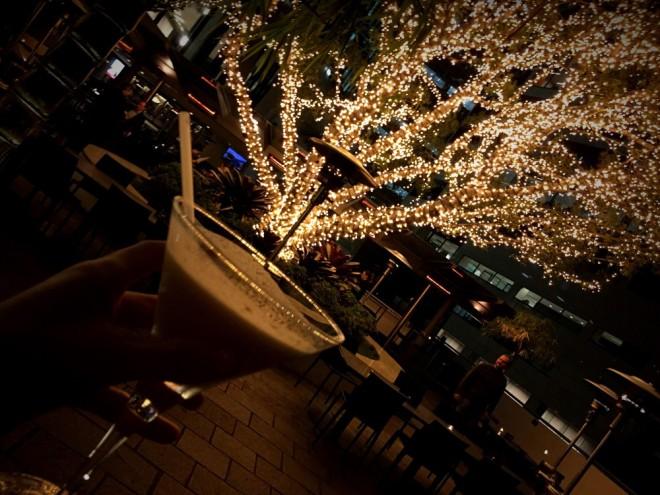 Nothing says 'Happy Christmas (in July)' like an eggnog cocktail.