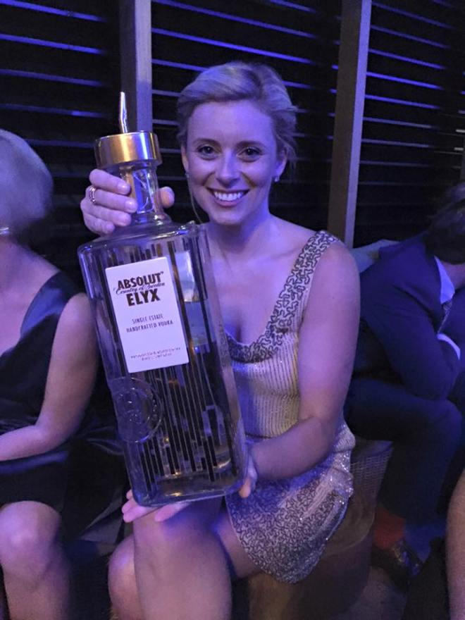 Giant vodka bottle