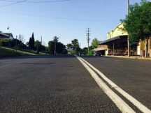 Nundle's main street was a hive of activity at 8am.