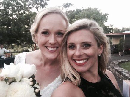 The gorgeous bride, Claire.