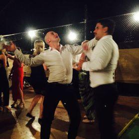 Dance floor action.