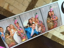 Photo booth fun with Claire and Robbie.