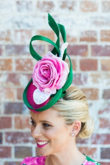Custom headpiece by Pink Lane Hats.