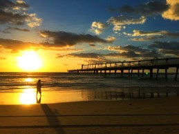 Southport Pier at sunrise.