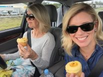 Birthday cupcakes on the way to Noosa.