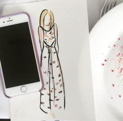 My amazing illustration by fashion illustrator Jakomina Vidakovic.
