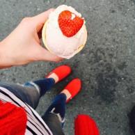 Strawberry Sundaes at the Ekka.