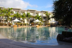 Swim, paddle, float or dip in the lush lagoon pool with its own sandy beach ... but be warned, poolside sun lounges are a hot commodity so you need to get in early!