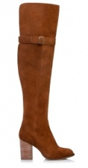 Jo Mercer Zala Over The Knee Boots in brown suede. $299