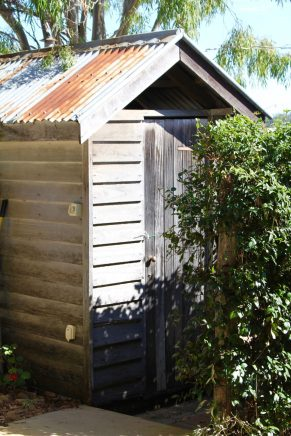 A cheeky little outhouse at Branell Homestead in Laidley.