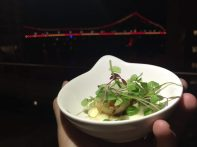 Scallops and the Story Bridge ... a perfect night at Marriott Brisbane.