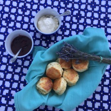 Anne's lavender scones.