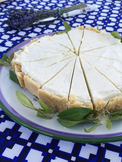 Lemon Myrtle Cheesecake.