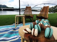 Styling goals ... when your macarons match the picnic blanket.