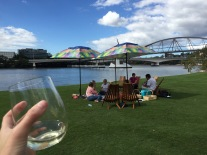 Bottoms up to beautiful days spent by the Brisbane River.