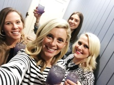 Bottoms up, ladies. Enjoying the Lavender Collins made with fresh lavender from Holmwood Produce in Lockyer Valley.