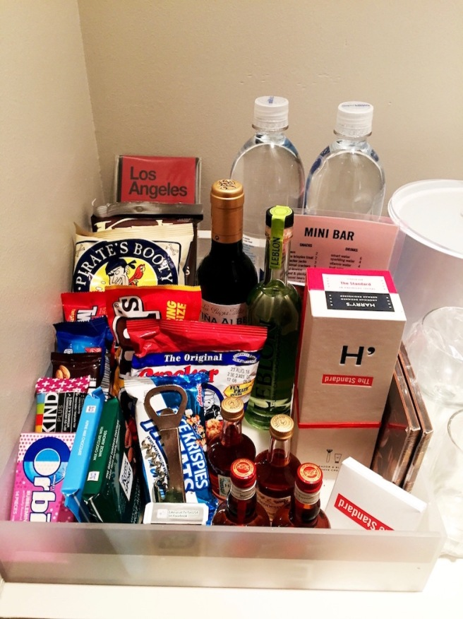 A well stocked mini bar is the mark of a good hotel.
