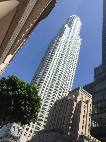 OUE Skyspace LA is located on the 69th and 70th floors of the U.S Bank Building in Downtown Los Angeles.