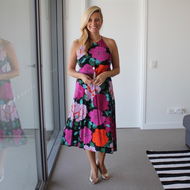 What_Brooke_Wore_Floral_Wrap_Dress