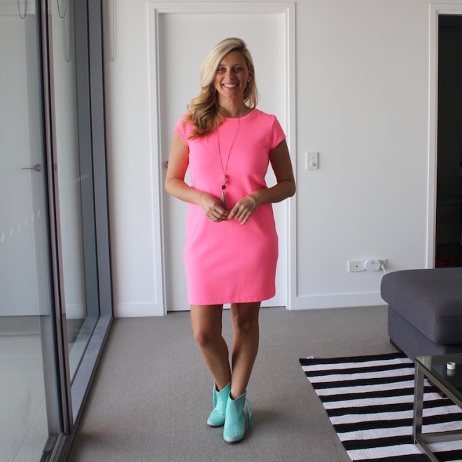 What_Brooke_Wore_Pink_Dress_Boots