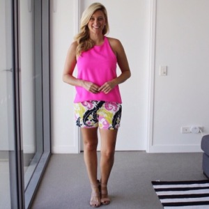 Pink_top_floral_shorts