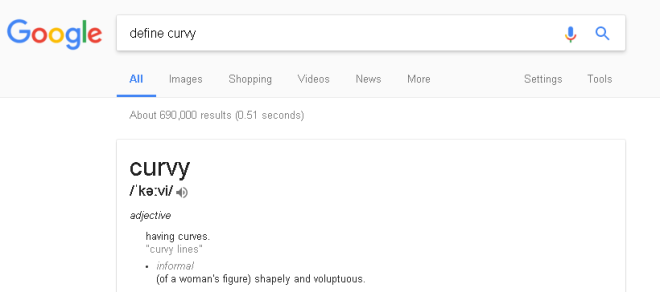 define-curvy