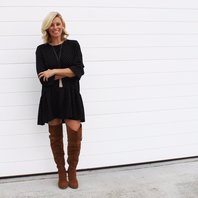 black-dress-knee-high-boots