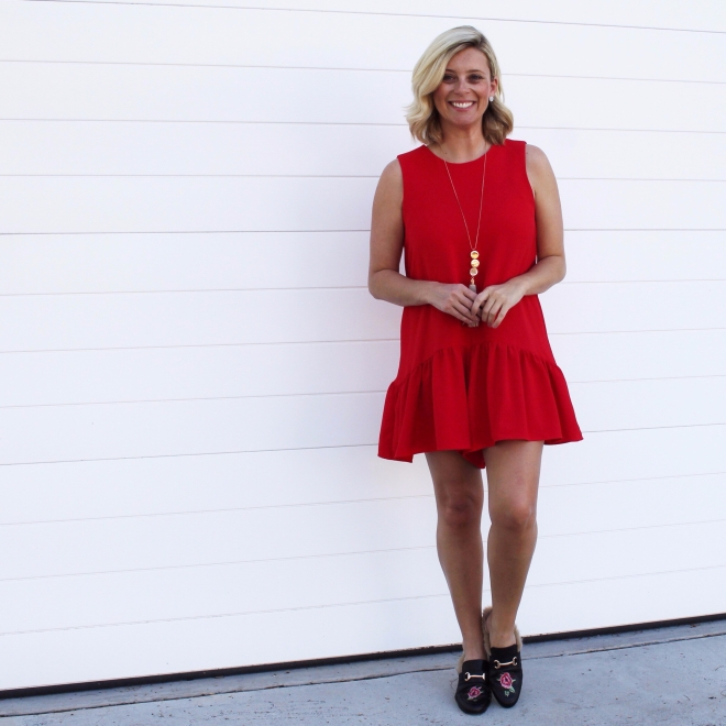 red-playsuit