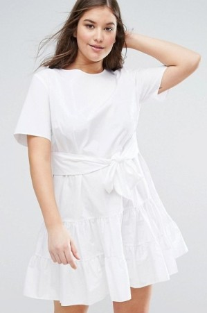 21. ASOS CURVE Tiered Cotton Mini Dress