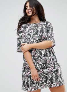 18. ASOS CURVE Ultimate T-Shirt Dress in Floral Print