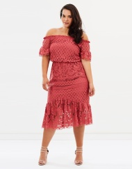 10. Atmos&Here Curvy Billie Lace Off Shoulder Dress