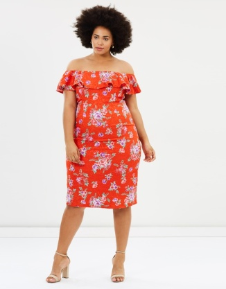 13. Atmos&Here Curvy Florence Ruffle Pencil Dress