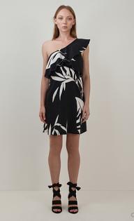 24 - Country Road One Shoulder Ruffle Mini Dress