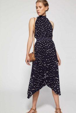 9 - Witchery Printed Pleat Dress