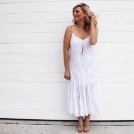 8 - Zara White Midi Dress